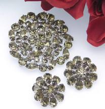 Juliana Style Rhinestone Tiered Brooch And Earrings Set - $74.95