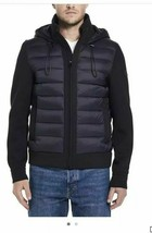 Tumi Men Black Quilted Puffer Transitional Neoprene Hooded Winter Jacket... - $119.99