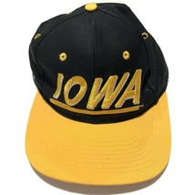 University of Iowa Hawkeyes Football Snapback Hat Adjustable Cap Go Hawks! - $39.95