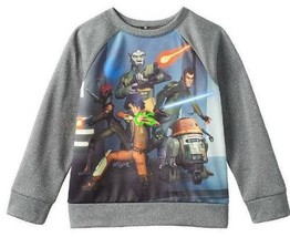 Boys Sweatshirt Disney Star Wars Rebels Gray Long Sleeve-sz 4 & 5/6 - $15.00