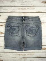 Silver J EAN S Shorts Buckle Low Rise Toni Denim Cuffed Stretch Jean Short 28 - $54.20