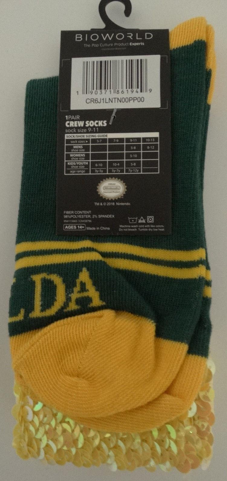 The Legend Of Zelda Video Game Sequin Cuff Crew Socks