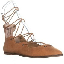 Lucky Brand Billoh Lace-Up Pointed Toe Flats, Cashew, 8 US / 38 EU - $38.39