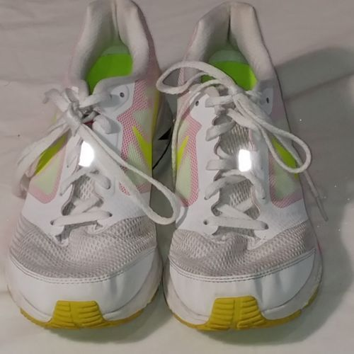 the latest 201b2 23b8c Nike Zoom Fly White Pink Green Running and 50 similar items