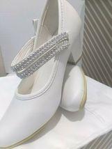 AISLE STYLE Girls Low Mid Heel Party Wedding Mary Jane Style Shoes Size 28 UK image 5