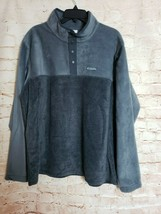 Columbia Mens Flattop Ridge Half Snap Sweater Fleece Top Size XL/TG - $29.65