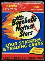 (4) 1987 Fleer Hottest Stars Factory Sets NO Barry Bonds   - $9.49