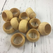 Wooden Napkin Rings Set Of 11 Light Wood Smooth Round Rings Home Decor K... - $28.45
