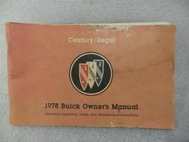 Buick Regal Century 1978 Owners Manual 14712 - $19.75