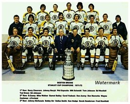 NHL 1971 - 72 Stanley Cup Champions Boston Bruins Team Pic 8 X 10 Photo Picture - $5.99