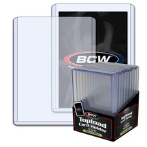 500 (50 packs) BCW 7mm Thick 3 x 4 Toploaders - 240 PT Jersey Memorabili... - $144.86
