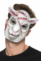 Evil Sheep Killer Mask White, Halloween Fancy Dress Accessories, One Size #AU - $6.42