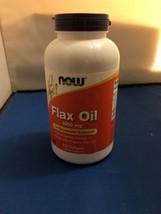 Now Foods Flax Oil Organic 1000 mg 250 Softgels - $9.50