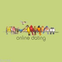 Bird Lovers Gildan T-shirt S 2XL NWT NEW  Birds Online Dating Cotton Green - $20.20