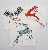 "Set of 3 CaliTime 18x18"" Pillow Covers Holiday Merry Christmas Printed Z... - $19.70"