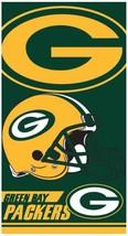 NFL Green Bay Packers Bath Pool Beach Towel 30x60 Double Cover Football ... - $18.53