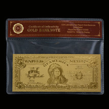 WR Chief Indian 1899 $5 Silver Certificate Bank Note Gold Paper Money Bill Craft - $4.56