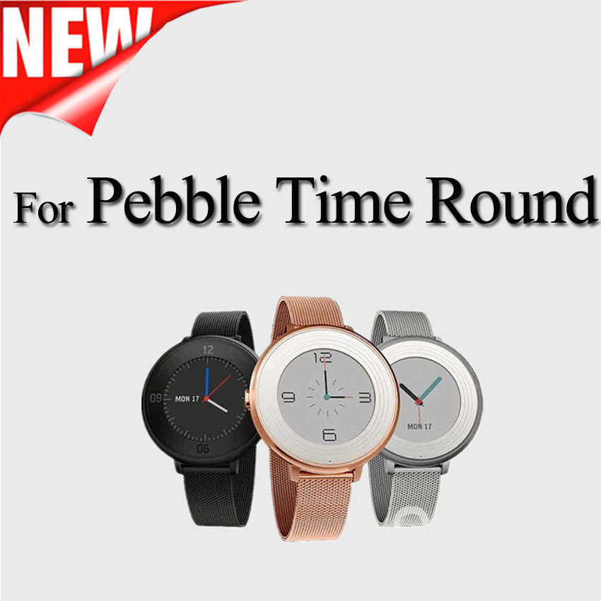 Stainless-Steel-Milanese-Loop-Metal-Smart-Watch-Band-for-pebble-time-round-watch for sale  USA