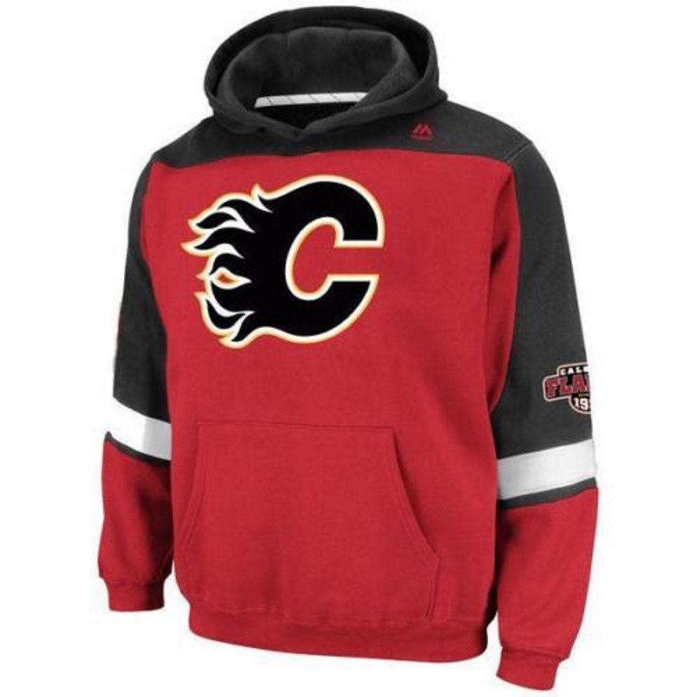 Youth Calgary Flames Hoodie NHL Ice Classic Hooded Fleece Sweatshirt Boy's
