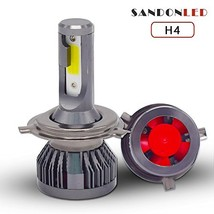 Sandonled H4 9003 HB2 hi low led headlight bulb fog driving light 8000lm... - $61.23