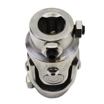 "Stainless Steel Yokes Steering Shaft Universal U-Joint 3/4"" 36 Spline To 3/4"" DD"