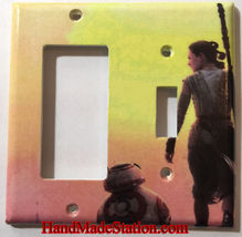 Star Wars BB8 & Rey Light Switch Power Outlet wall Cover Plate Home decor image 3