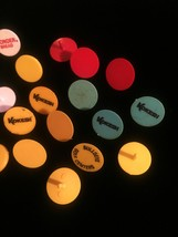 Lot of 22 vintage colorful plastic Golf Ball Markers image 3