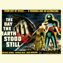 Day the Earth Stood Still T-shirt classic sci-fiction movie cotton graphic tee image 2