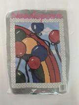 Deco Point Vintage Needlepoint Balloons Away - $12.47