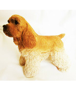 "UDC Cocker Spaniel buff tan 1988 sandcast figurine 4"" tall - $6.50"