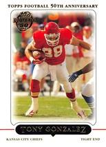 2005 Topps #143 Tony Gonzalez NM-MT Chiefs - $0.90