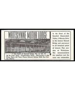 Wattslynne Motor Lodge Ad Natural Bridge Virginia 1953 Roadside Photo Ad... - $10.99