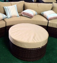 Outdoor Sofa 6 pc Sectional Wicker Brown Las Vegas Patio Furniture And Garden image 4