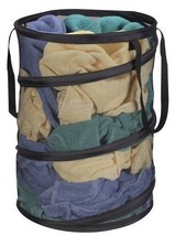 Portable Laundry Storage Pop Up Hamper Polyester Mesh w/ Carrying Straps... - $26.10