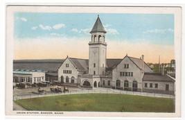 Union Railroad Depot Bangor Maine 1922 postcard - $5.45