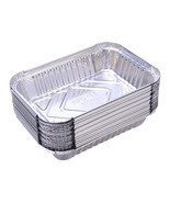 30pcs BBQ Aluminum Foil Grease Drip Pans Recyclable Barbecue Grill Catch... - $22.50