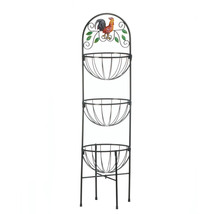 Kitchen Shelf Basket, Kitchen Fruit Vegetable Basket Organizing Stand - $39.08
