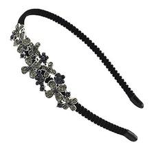 Stylish Women Crystal Headband Girls Rhinestone Hair Band Flowers - $11.85