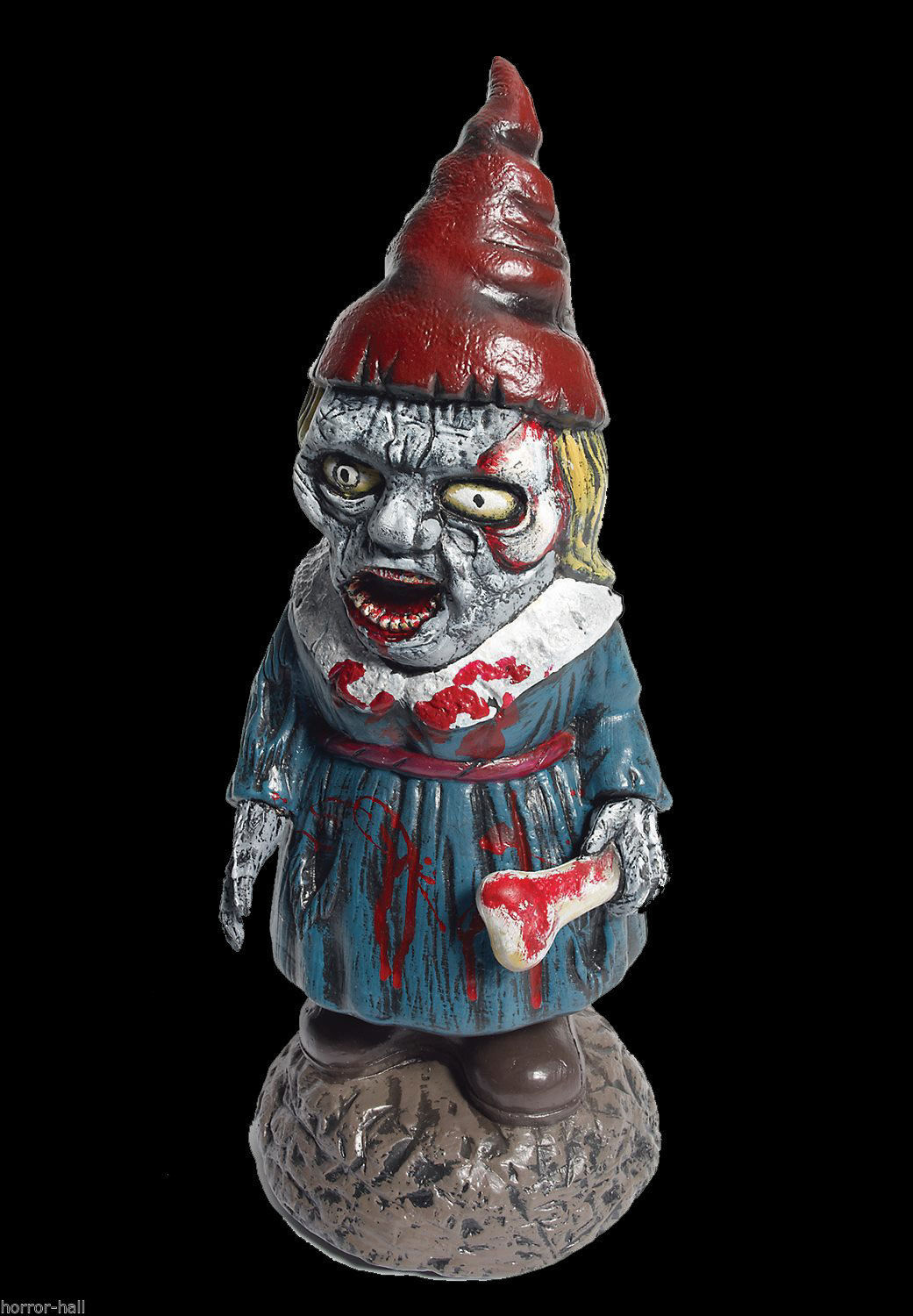 Bloody Zombie GNOME-BIE-ETT GIRL Walking Dead Horror Prop Garden Yard Decoration