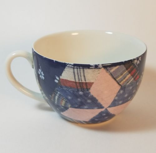 Ralph Lauren Patchwork Tea Cup By Wedgwood made in England EUC