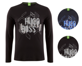 New Hugo Boss Men's Premium Graphic Cotton Long Sleeve Shirt T-Shirt 50325443