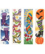 Shoes For All Seasons Bookmarks cross stitch chart Imaginating - $5.40