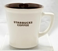 Starbucks Coffee 2009 Cream White, Brown Inside 16oz New Bone Chine Mug Tea Cup - $25.95