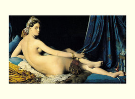 Jean Auguste Dominique Ingres, La Grande Odalisque, 1814, Nudity, Concub... - $14.49