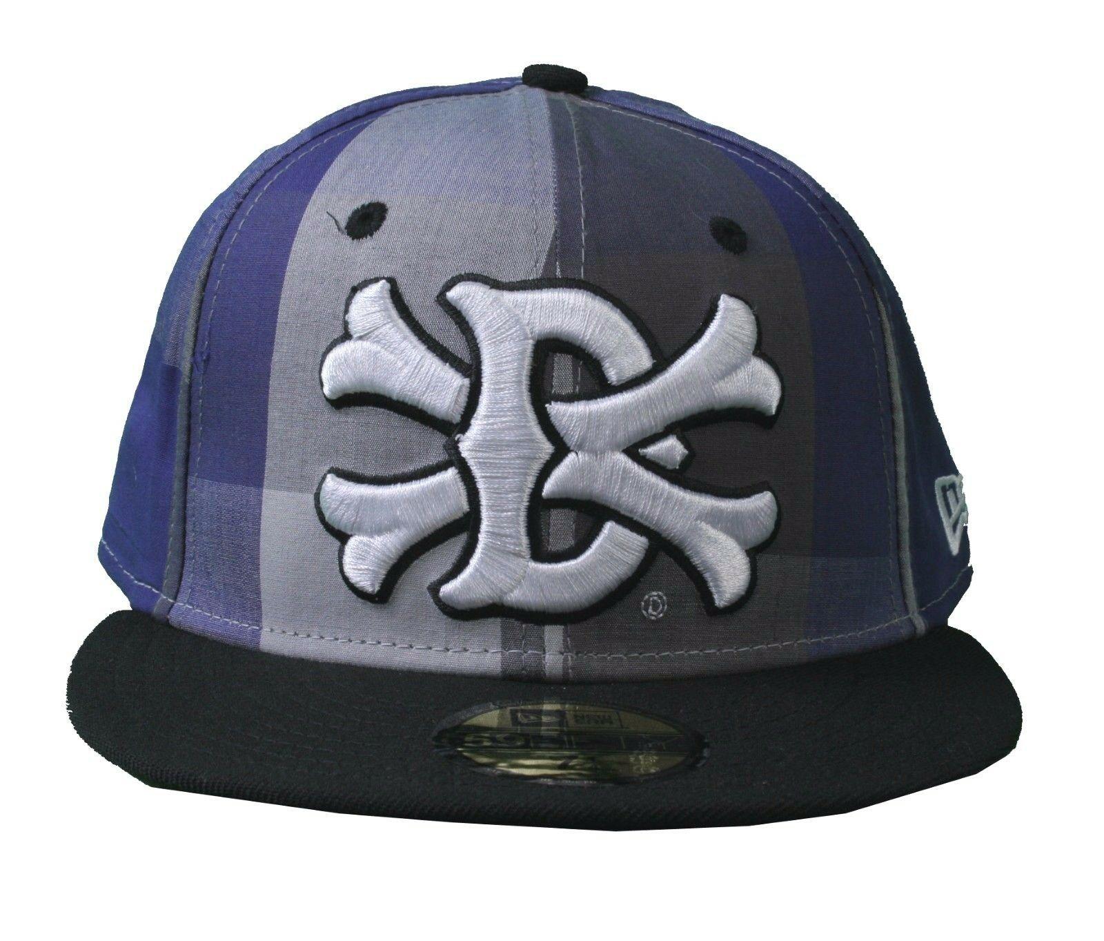 Dissizit Dx11 Ossa Percalle Blu & Nero NEW ERA 59FIFTY Aderente Baseball Hat Nwt