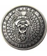Rare Antique USA United States 1883 Morgan Dollar Skull Zombie Skeleton ... - $27.62