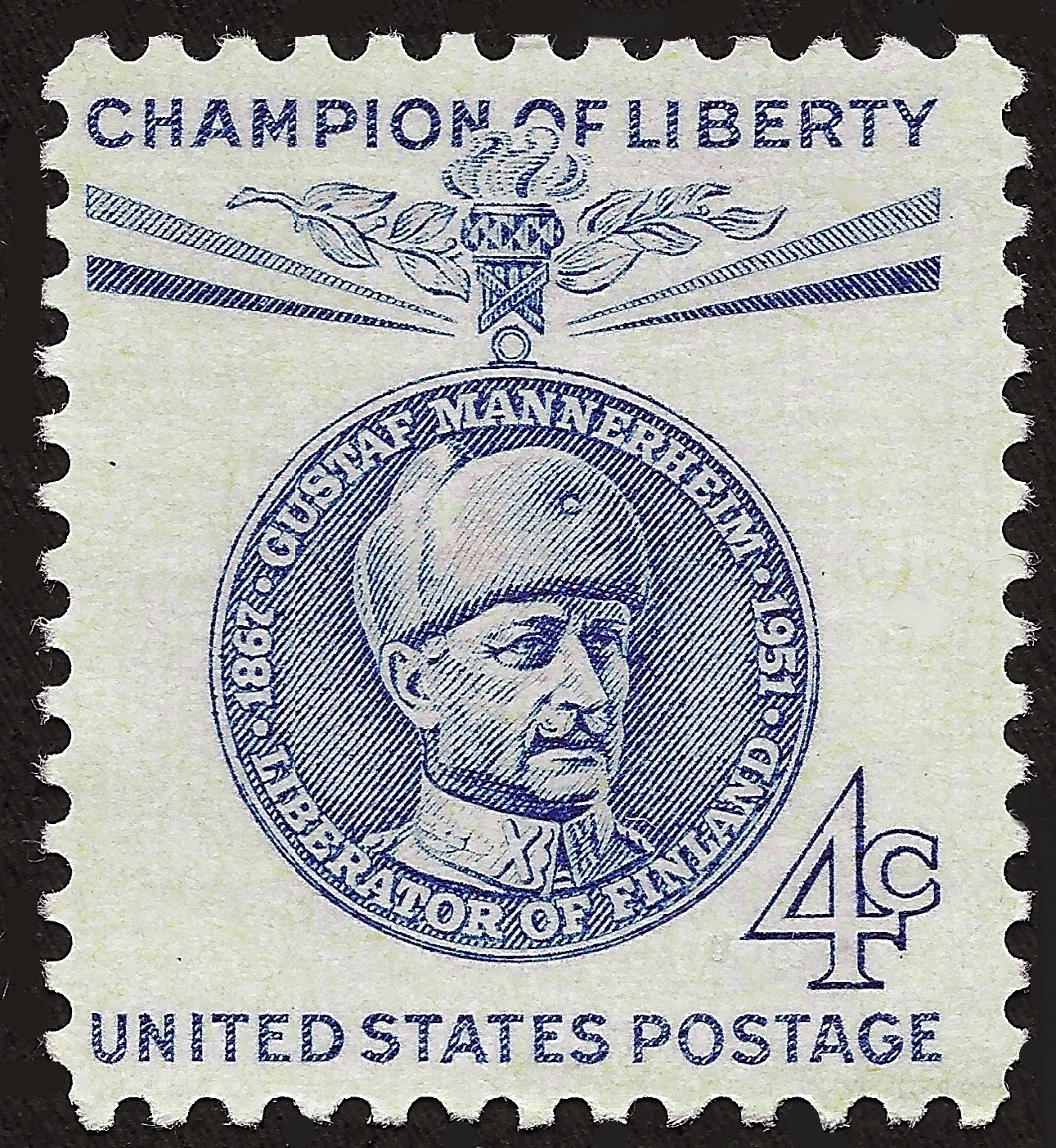 Us 4 Cent Postage Stamp 1960 Champion Of Liberty