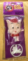"NIP Porky Pig baby rattle plastic 1975 Warner Brothers 6 1/2"" Bugs Bunny... - $29.09"