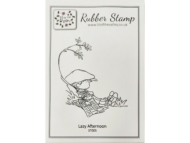 """Lili of the Valley Unmounted Rubber Stamp """"Lazy Afternoon"""" #ST005"""