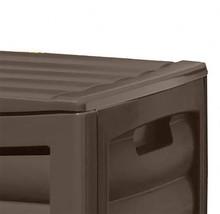 Suncast 63 Gallon Mocha Resin Deck Box with Rollers DB6300B - $95.88 CAD